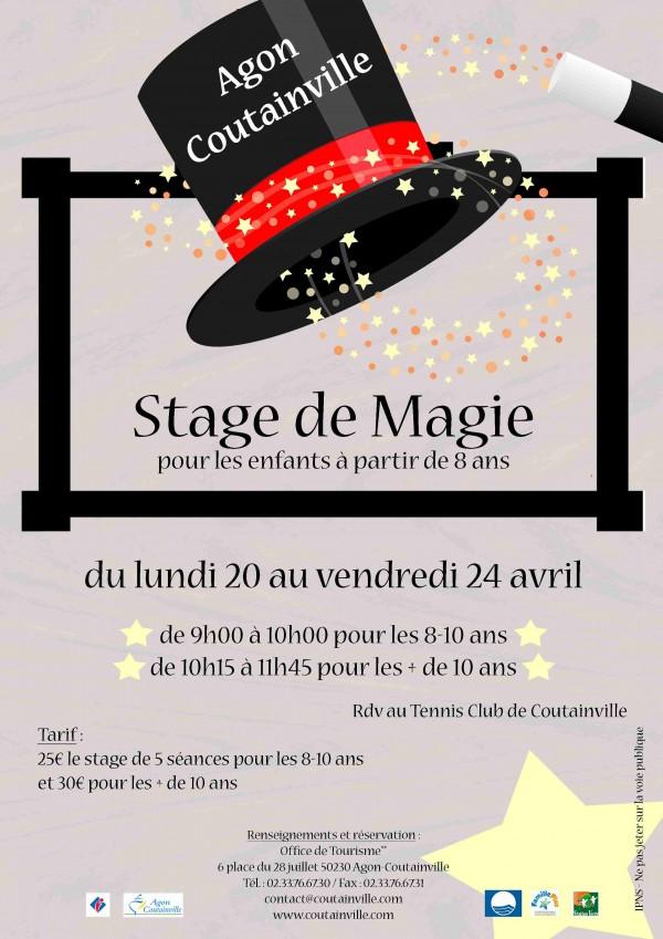 affiche stage de magie B