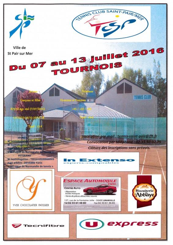 Affiche  tournoi St Pair 2016