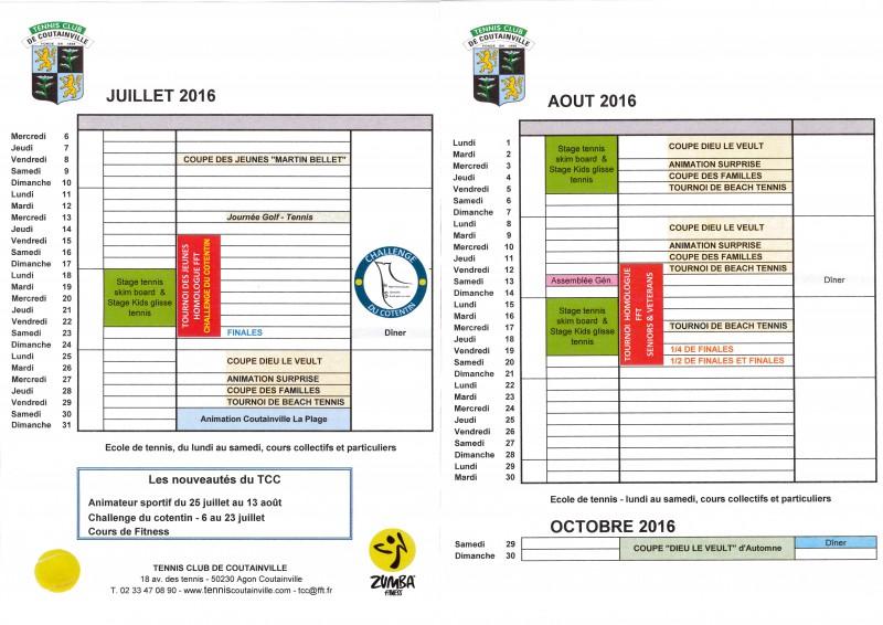 Planning 07 et 08 2016
